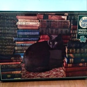 Unopened Cobble Hill 1000 Cat in Library Puzzle